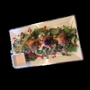 Salade warme artisanale geitenkaasjes